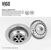 "33"" Sink Set w/ Edison Faucet Product Detailed Info 8"