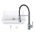 """36"""" Sink Set w/ Edison Faucet Included Items"""