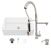 """36"""" Sink Set w/ Zurich Faucet Included Items"""