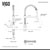 Sink and Brant Pull-Down Faucet Dimensions 2
