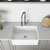 Sink and Edison Pull-Down Faucet Close-up