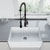 Sink and Zurich Pull-Down Kitchen Faucet Closeup