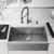 33'' Sink w/ Edison Faucet in Stainless Steel