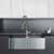 30'' Sink w/ Edison Faucet in Matte Gold