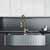 36'' Sink w/ Brant Faucet in Matte Gold