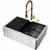 30'' Sink w/ Brant Faucet in Matte Gold