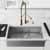 36'' Sink w/ Zurich Faucet in Matte Gold