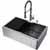 33'' Sink w/ Edison Faucet in Graphite Black