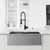 30'' Sink w/ Edison Faucet in Matte Gold/Matte Black
