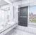 Bathtub Door Black / Stainless Steel