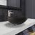 "Vigo Gray Onyx Glass Vessel Bathroom Sink Set with Niko Vessel Faucet in Brushed Nickel, 16-1/2"" Diameter x 6"" H"