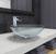 "Vigo Crystalline Glass Vessel Bathroom Sink Set with Niko Vessel Faucet in Chrome, 16-1/2"" Diameter x 6-1/2"" H"