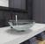 "Vigo Crystalline Glass Vessel Bathroom Sink Set with Milo Vessel Faucet in Antique Rubbed Bronze, 16-1/2"" Diameter x 6-1/2"" H"