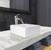 "Vigo Dianthus Matte Stone Vessel Bathroom Sink Set with Niko Vessel Faucet in Brushed Nickel, 14-1/2"" W x 14-1/2"" D x 5"" H"