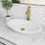 Sink & Seville Vessel Faucet in Matte Brushed Gold w/ Pop-Up Drain