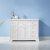 "Vinnova Lorna 48"" Single Vanity in White with Fine White Quartz Countertop and Undermount Rectangular Ceramic Basin, 47-3/16"" W x 21-5/8"" D x 33-1/8"" H"