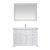 "48"" White Vanity Set Product View"