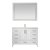"48"" White Vanity Set Product View"