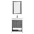 Vinnova Bathroom Vanity 28'' Wide DisplayView Front Grey