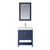 Vinnova Bathroom Vanity 28'' Wide DisplayView Front Blue