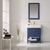 Vinnova Bathroom Vanity 28'' Wide Lifestyle View Front Blue