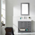 Vinnova Bathroom Vanity 36'' Wide Lifestyle View Front Grey