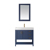 Vinnova Bathroom Vanity 36'' Wide Display View Front Blue