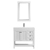 Vinnova Bathroom Vanity 36'' Wide Display View Front White