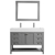 Vinnova Bathroom Vanity 48'' Wide Display View Front Grey
