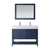 Vinnova Bathroom Vanity 48'' Wide Display View Front Blue