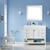 Vinnova Bathroom Vanity 48'' Wide Lifestyle View Front White