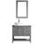 Vinnova Bathroom Vanity 36'' Display View Front Grey