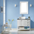 Vinnova Bathroom Vanity 36'' Lifestyle View Front White