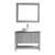 Vinnova Bathroom Vanity 42'' Display View Front Grey