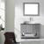 Vinnova Bathroom Vanity 42'' Lifestyle View Front Grey