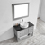 Vinnova Bathroom Vanity 42'' Lifestyle View Top Grey