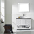 Vinnova Bathroom Vanity 42'' Lifestyle View Front White