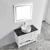 Vinnova Bathroom Vanity 42'' Lifestyle View Top White