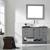 Vinnova Bathroom Vanity 48'' Lifestyle View Front Grey