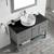 Vinnova Bathroom Vanity 48'' Lifestyle View Top Grey