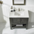 Vinnova Bathroom Vanity 36'' Lifestyle View Top Grey