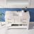 Vinnova Bathroom Vanity 48'' Lifestyle View Top White