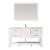 Vinnova Bathroom Vanity 60'' Display View Front White
