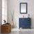 Vinnova Bathroom Vanity 36'' Lifestyle View Front Blue