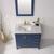 Vinnova Bathroom Vanity 36'' Lifestyle View Top Blue
