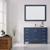 Vinnova Bathroom Vanity 48'' Lifestyle View Front Blue