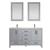 Vinnova Bathroom Vanity 60'' Display View Grey