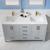 Vinnova Bathroom Vanity 60'' Lifestyle View Top Grey