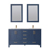 Vinnova Bathroom Vanity 60'' Display View Blue