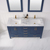 Vinnova Bathroom Vanity 60'' Lifestyle View Top Blue